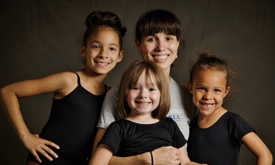 Grace Shivers, Corps de Ballet dancer from Cincinnati Ballet with Princesses Ballet dancers